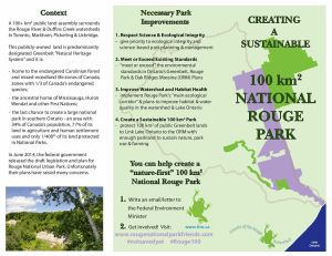 FRW Brochure discussing Rouge National Urban Park - 2014-09-02