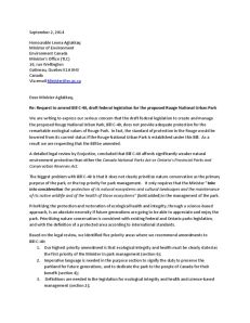 NGO coalition letter to Ottawa.